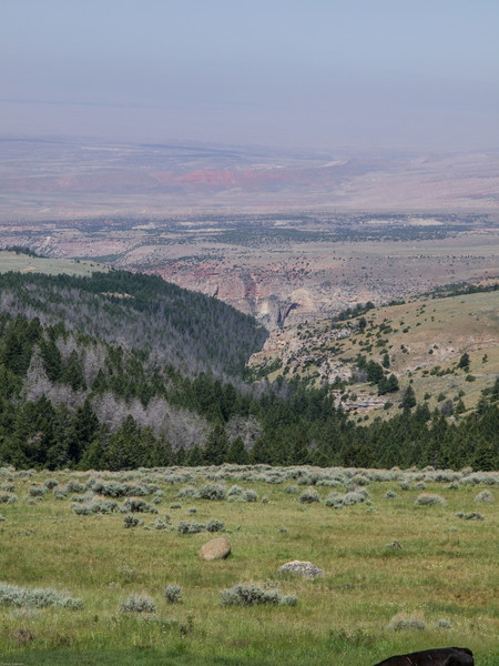 Bighorn Mountains Day 3<br /> Looking back down over Medicine Lodge State Park
