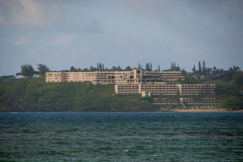 The St Regis from the other side of Hanalei Bay