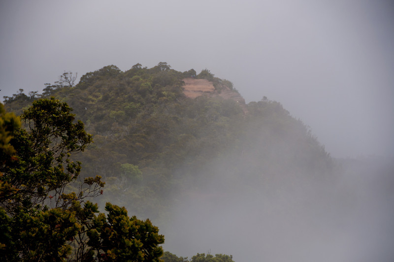 The clouds broke just a touch so we could see this mountainside.