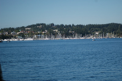 A view of Friday Harbor from the ferry