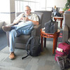 Trip begins at Dane County Airport waiting for flight to begin