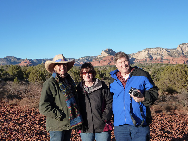 Our guide Shari, Susan and David at the end of the trail.