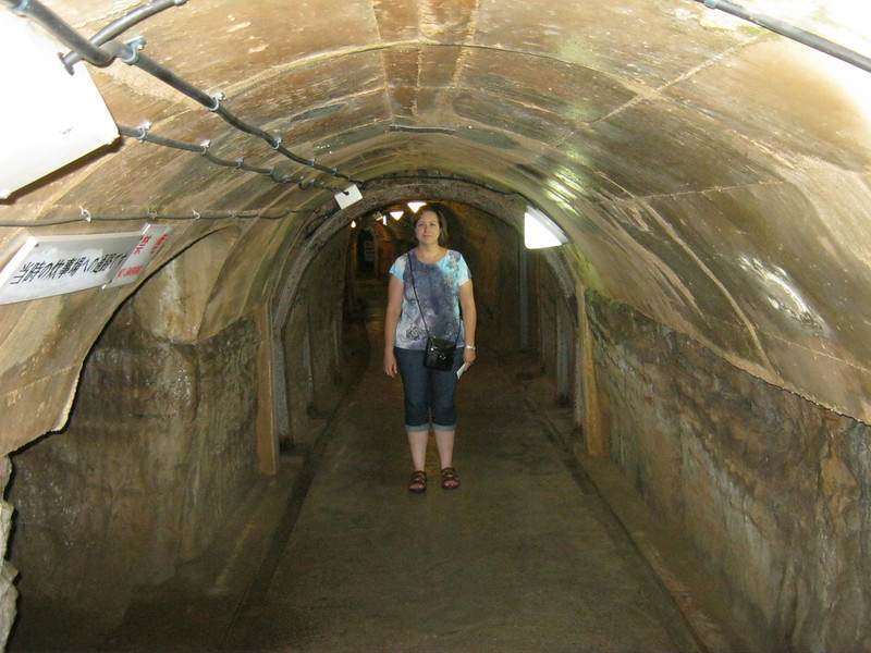 Even Angie was a little tall in the tunnels.