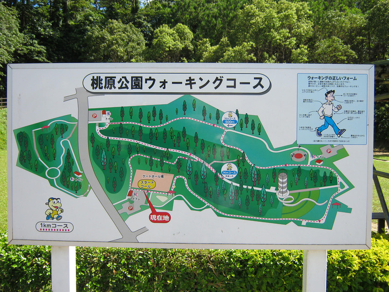 This is the map to the park that has one of the giant roller slides, on the right.