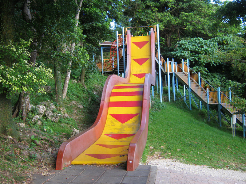 Unfortunately, the two cameras we took had their times off sync by an hour.  Here is another picture of one of the giant slides.