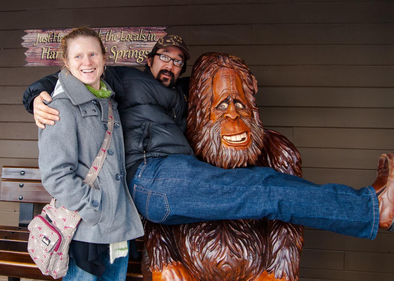 Tessa, Gary, and Bigfoot