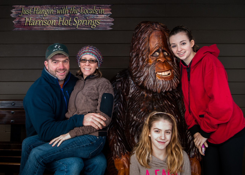 Terry, Karen, Bigfoot, Natalie, and Charlotte
