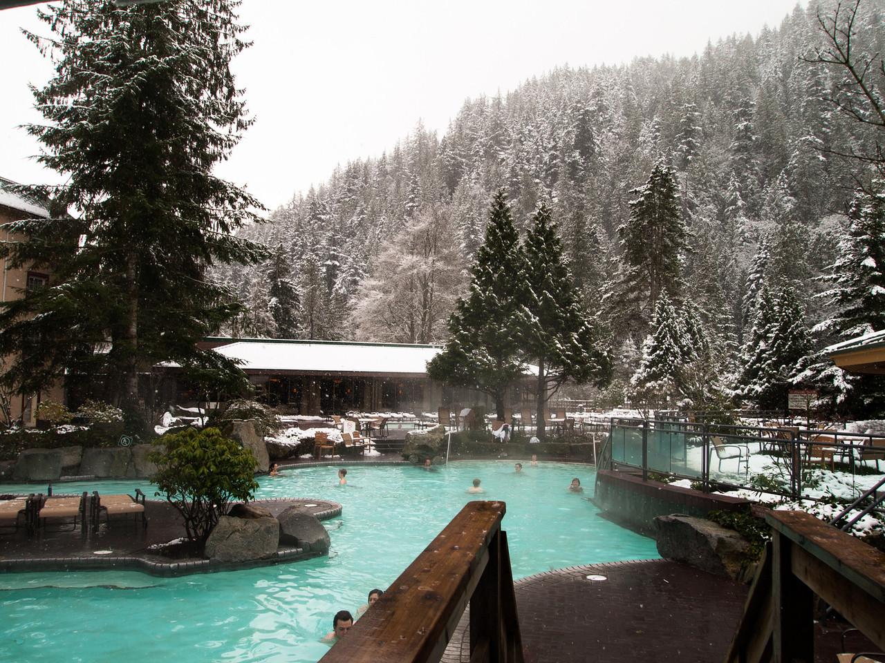 Harrison Hot Springs Resort - Family pool - temp around 85 F