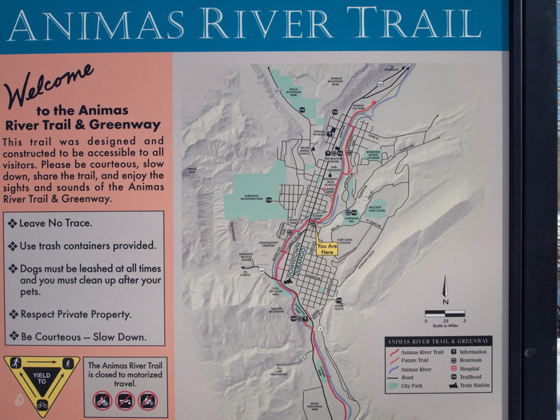 Animas trail map - Durango, CO
