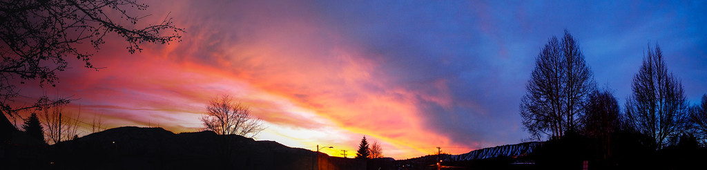 panoramic view of the sunset in Durango