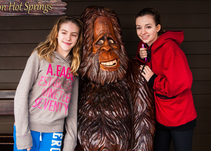 Natalie, Bigfoot  and Charlotte