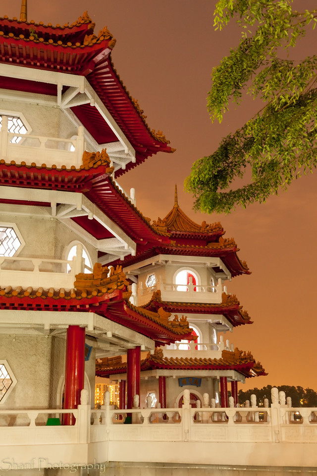 Twin Pagodas in Chinese Gardens