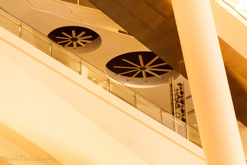 Detail of a modern shopping center in Singapore.
