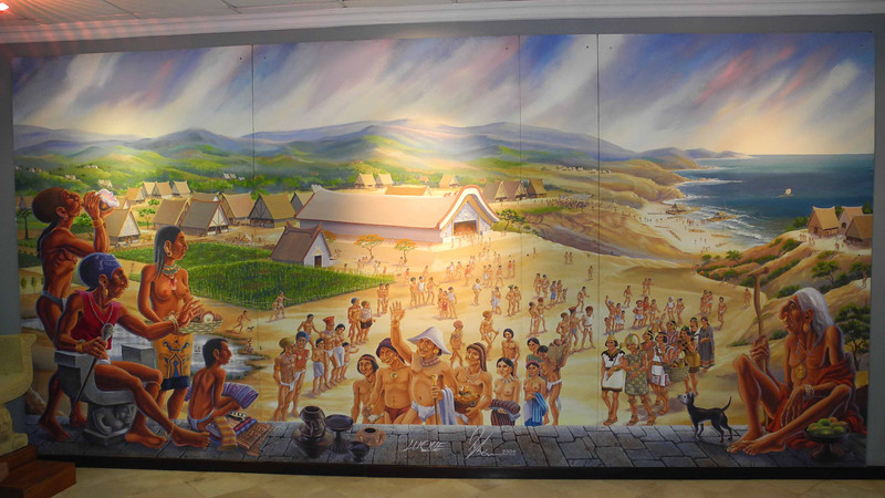 55 Mural of ancient Andean civilization