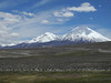 857 Pomerape (left, in Bolivia) and Parinacota (in Chile) volcanos
