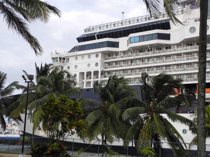 686 The Infinity docked at Colon, Panama