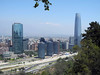 123 Smog blocks most of the Andes mountains views