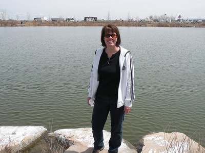 You can see some of the lake front sites behind me..