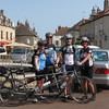 Our friends new riding buddies, Barry and Linda from Boston.  Typical town in Burgundy.