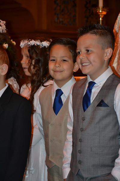 Diego's first communion