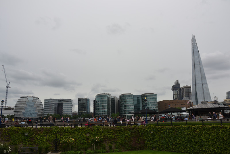 The Shard on the left