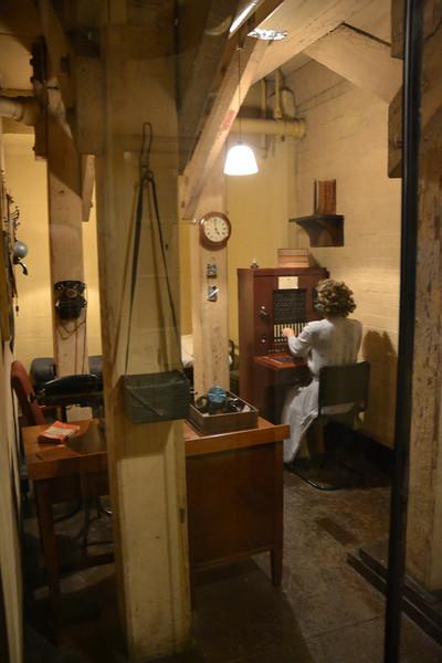 telephone switch room