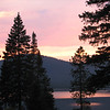 Sunset on the Hyalite Resevoir