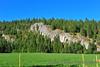 North Idaho has many granite rock outcroppings.