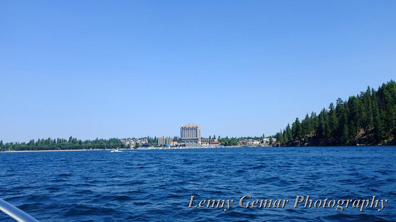 The Coeur d'Alene Resort, as viewed from Lake Coeur d'Alene.