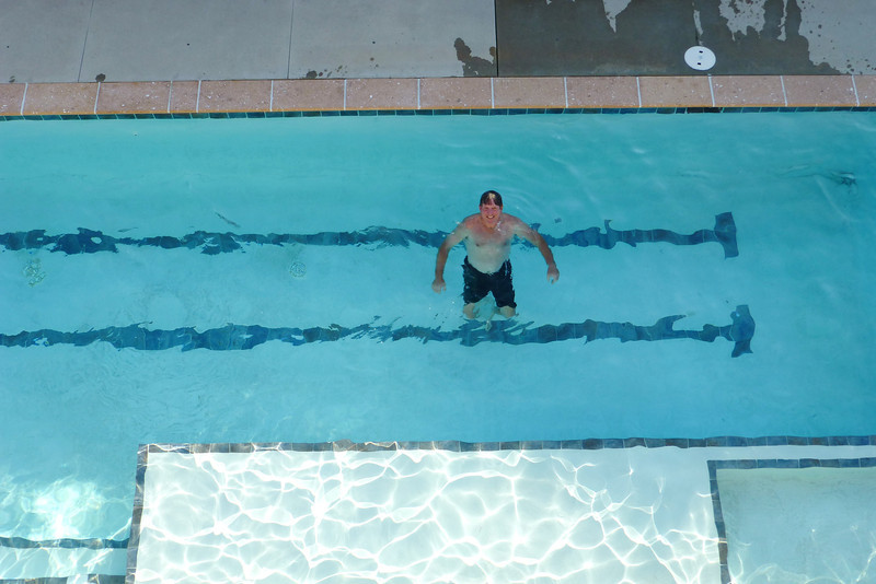 Spence in the pool