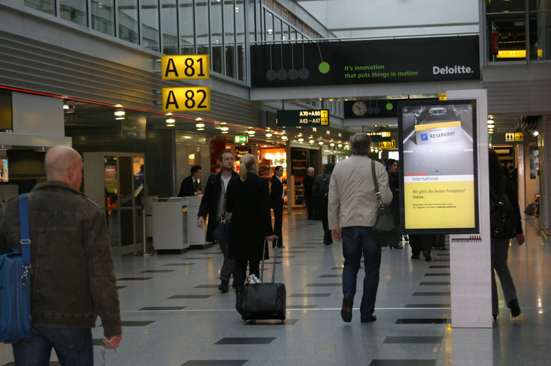 After departing from Lufthansa; trying to figure out where my baggage is.  :-)