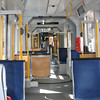 Inside the light rail.  Notice how clean it is.