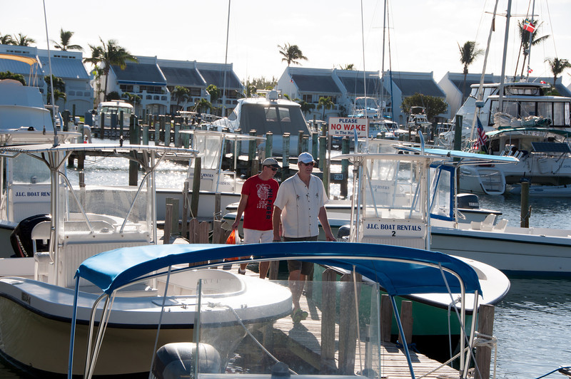 Bret & Tim on an excellent adventure.  Picking out the boat we'll rent for the day.