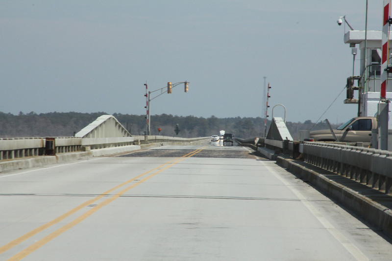 Crossing the drawbridge!