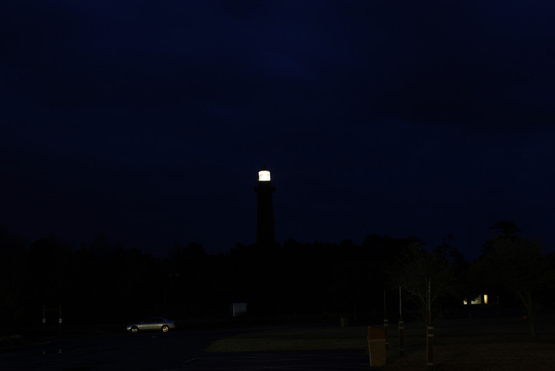 Carrituck Lighthouse at night