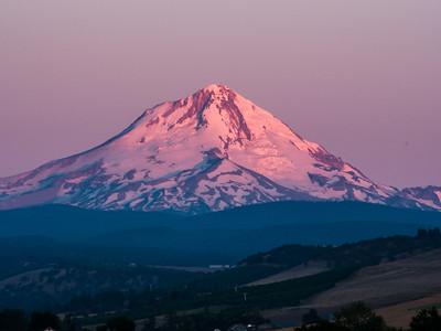 Dawn on Mt Hood from the Balch Hotel