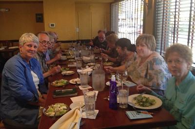 Bill Rowe's Birding Expedition dining at Phil's Rrestaurant
