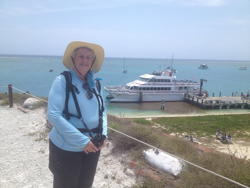 May 1, 2014 - (Dry Tortugas National Park [Garden Key] / Monroe County, Florida) -- MaryAnne on Fort Jefferson walls
