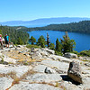 Lake Tahoe and Cascade Lake from Cascade Falls Trail