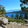 Cascade Lake from Cascade Falls Trail; Lake Tahoe west shore