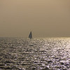 Sailboat on Bay of Cadiz