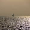 Sailboat on Bay of Cadiz
