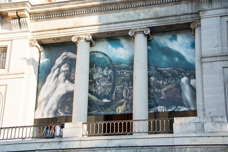 Banner for an El Greco exhibition