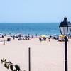 Lantern and beach