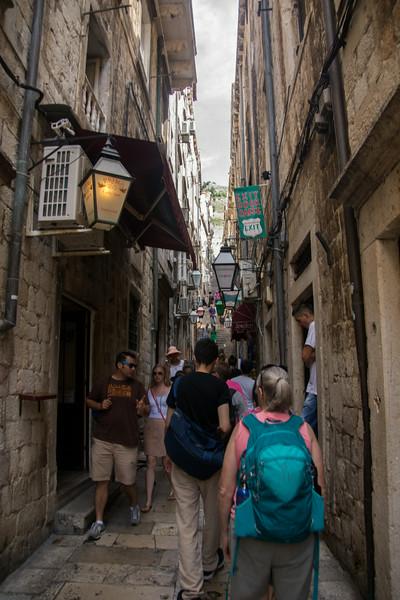 Narrow, stone streets