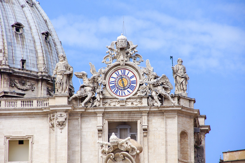 Clock on St. Peter's Cathedral