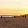 People leaving beach at 9:45 p.m.