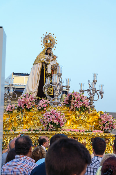 "Patron saint of people named ""Carmen"""
