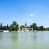 Boating lake in Retiro park
