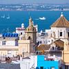 Older buildings and Bay of Cadiz